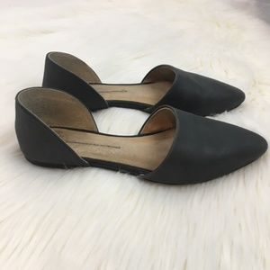 Free People Black D'Orsay Flats size 37